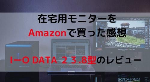 在宅用モニターを買った感想I-O DATA 23.8
