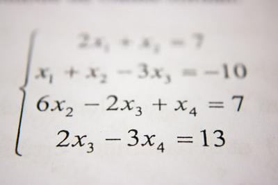 二次方程式の数式